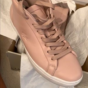 lacoste straightset chukka light pink